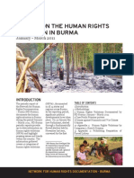 ND Burma Quarterly Report Jan March 2011-engl
