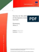 (Summary Report) Survey of the Attitudes of Europeans Towards Tourism 2011
