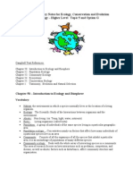 Ecology and Evolution Summary Notes