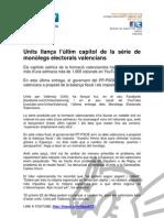 110518 Units llança l'últim capítol de la sèrie de monòlegs electorals valencians