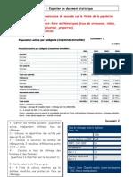 1ère ES1 TD population active et calculs