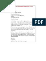 Credit Report Letter Fix