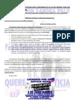 Convocatoria Manifestacion Reforma de La Ley Del Menor