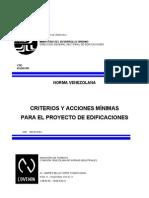 2002-1988A CRITERIOS Y ACCIONES MÍNIMAS PARA EL PROYECTO DE EDIFICACIONES.
