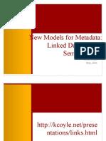 New Models of Metadata