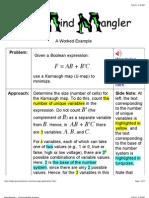 Mind Mangler - A Karnaugh Map Example