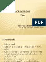 Schizofrenia prezentare