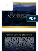 Revolution Resources Investor Presentation
