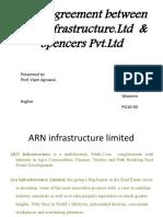 LEASING Between ARN Infrastructure & Spencers