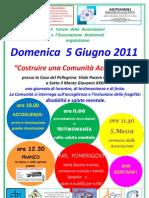 Locandina Comunita' Accogliente - 5 Giugno 2011