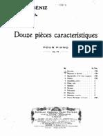 Albaniz, Isaac 12 Caracteristique Pieces