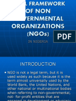 The Legal Framework of Non Governmental Ors (