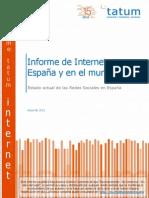 Informe de Internet en España y en el mundo (TATUM mayo2011)