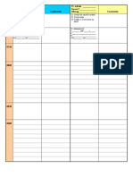 Organizational Worksheet