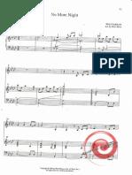 No more night - sheet music