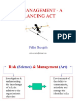risk management a balancing act