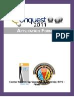Application Form - Conquest 2011