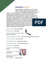 Expressões Idiomáticas 1