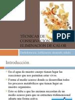 TÉCNICAS DE CONSERVACIÓN POR ELIMINACIÓN DE CALOR