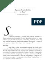QUESTÃO SOCIAL E POLÍTICA NO BRASIL