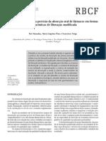 A dissolução in vitro na previsão de absorção  oral de fármacos em formas farmacêuticas de liberação modificada