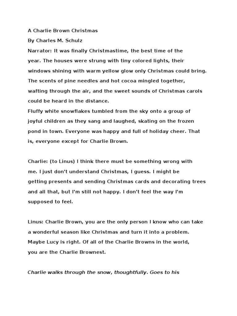 script  charlie brown christmas peanuts comic strip christmas