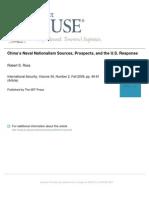 Ross - Chinas Naval Nationalism