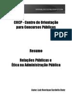Apostila Relacoes Publicas e Etica No Servico Publico