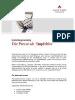 Empfehlungsmarketing und Pressearbeit