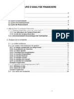Analyse Financiere Gestion Financi Re Cours 11-10-09