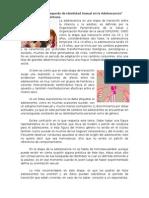 Artículo Búsqueda de Identidad Sexual en la Adolescencia