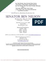 Birthday Fundraiser for Ben Nelson