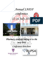 58th Annual SAPSF Conference Brochure