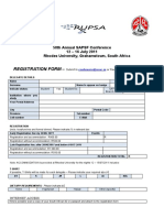 58th Annual SAPSF Conference Registration Form
