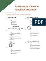 QO - Ejercitación De Fórmulas De Química Orgánica
