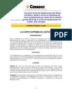 Acuerdo de CSJ Creación Sala Sexta Penal de Cobán A015-2009