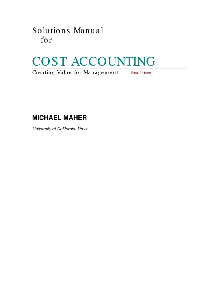Cost accounting solution cost of goods sold cost fandeluxe