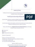 Invtacion a Prensa