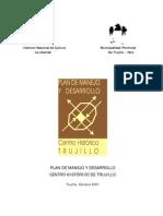 Plan de Manejo Del Centro Historico de Trujillo