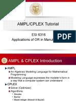 Ampl Cplex Tutorial