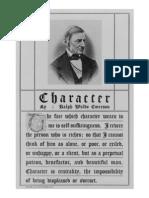 Character, by Ralph Waldo Emerson