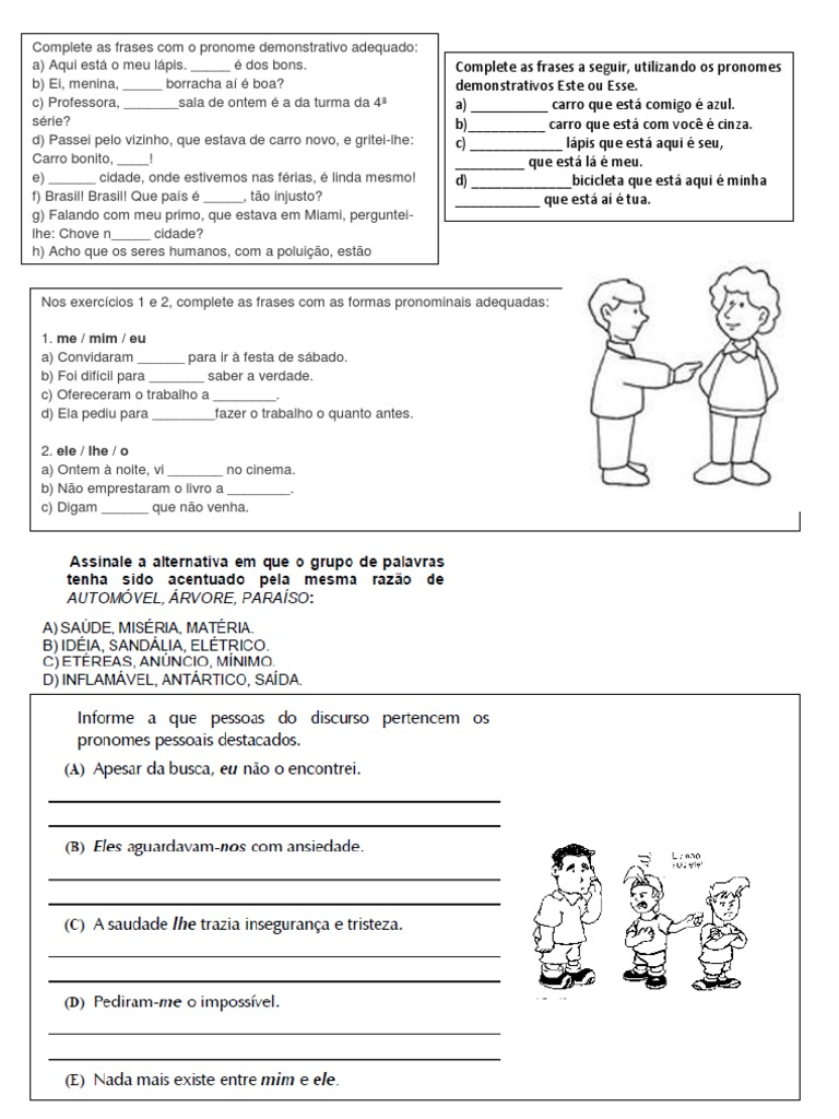 Famosos pronomes - 5º Ano Ensino Fundamental WZ25