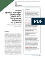18.001 Insuficiencia renal aguda (I). Concepto. Epidemiología. Clasificación. Etiopatogenia. Indicadores de gravedad