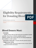 Eligibility Requirements for Donating Blood