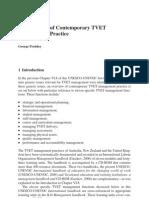 Contemporary TVET Management Practice