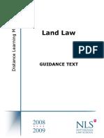 NTU_Land Law Guidance Text 2008-2009