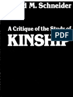 A Critique of the Study of Kinship