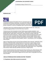 Analisis Kasus Asuransi Konvensional Dan Asuransi Syariah