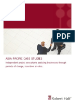 Interested in Project Consulting? - Robert Half Asia Pacific Case Studies booklet
