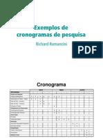 Exemplos de Cronogramas de Pesquisa 1226984184429806 8